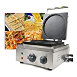 Meiney Commercial Crepe Maker Electric Crepe Pancake Machine Scones Machine Nonstick Griddle Easy Clean Timing Function Precise Temperature Control Stainless Steel