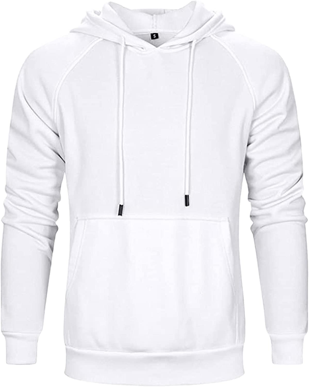 Huangse Men's Hoodie Shirt UPF 50 Long Sleeve Fishing Shirt UV Protection Shirt Solid Color Athletic Outdoor Sweatshirt