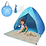 FBSPORT Beach Tent, Pop Up Beach Shade, UPF 50+ Sun Shelter Instant Portable Tent Umbrella Baby Canopy Cabana with Carry Bag