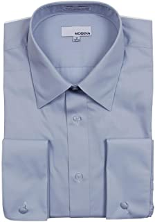 Men's Regular & Contemporary (Slim) Fit French Cuff Solid Dress Shirt – Colors (All Sizes)