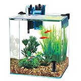 Penn-Plax Water-World Vertex Desktop Aquarium Kit - Perfect for Shrimp & Small Fish - 10 Gallon Tank
