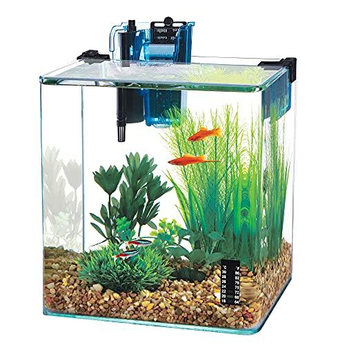 of penn plax aquariums dec 2021 theres one clear winner Penn-Plax Water-World Vertex Desktop Aquarium Kit - Perfect for Shrimp & Small Fish - 10 Gallon Tank