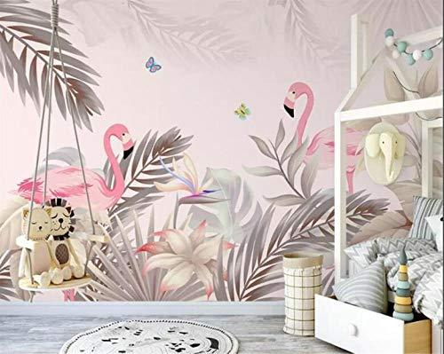 Aangepast behang foto hand getrokken Scandinavische tropische palmboom plant binnen achtergrond muurschilderingen 3D Wallpaper_200X140CM