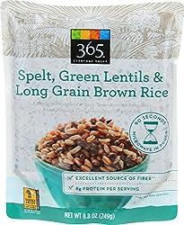 365 Everyday Value, Spelt, Green Lentils & Long Grain Brown Rice, 8.8 oz