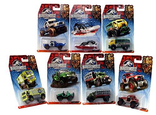 Mattel Matchbox Jurassic World 1:64 All 7 Vehicles - MBX 4x4, Cliff Hanger, Rock Shocker, Sea Spy, Mauler Hauler, Travel Tracker, Desert Thunder