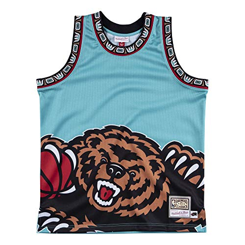 Mitchell & Ness Vancouver Grizzlies Teal Big Face Jersey Swingman NBA HWC Basketball Trikot