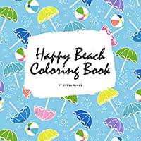 Happy Beach Coloring Book for Children (8.5x8.5 Coloring Book / Activity Book)