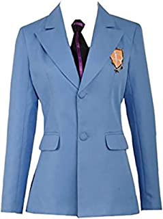 Ouran High School Host Club Adult Uniform Blazer and Tie,Anime Fujioka Haruhi Cosplay Costume Halloween (in Stock)