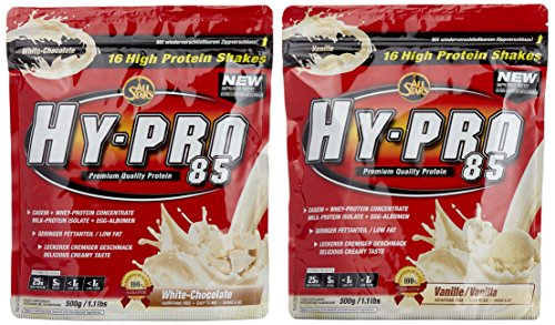 All stars Hy-Pro 85 Beutel 2er Mix Pack (2 x 500 g) Vanille/White Chocolate, 1er Pack (1 x 1 kg)