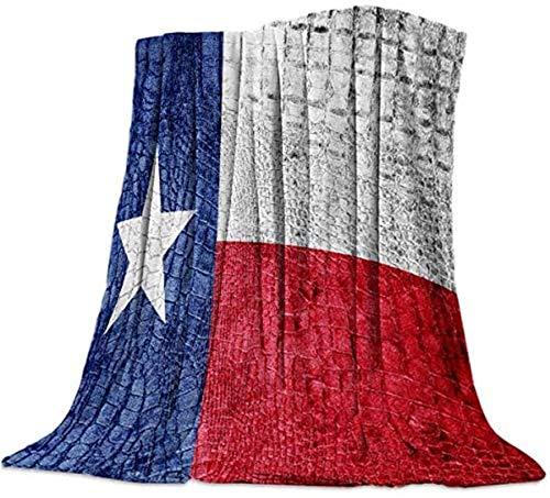 Manta de franela de forro polar, bandera de Estados Unidos, colcha vintage de microfibra ligera con bandera blanca azul roja desteñida para mujer: suave, afelpada, cálida, 50 x 60 pulgadas