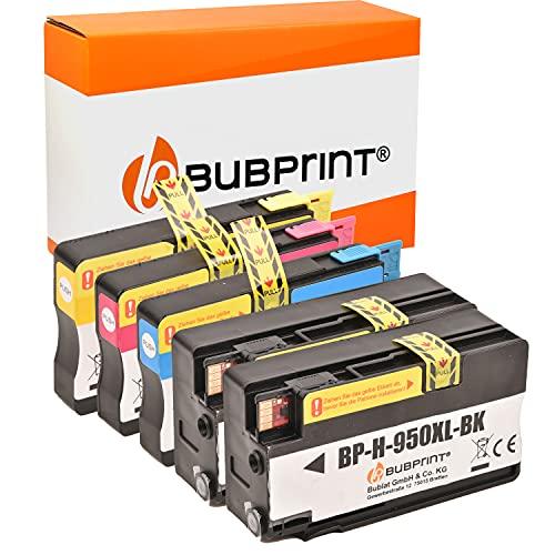 Bubprint Kompatibel Druckerpatronen als Ersatz für HP 950XL 951XL für Officejet Pro 251DW 276DW 8100 ePrinter 8600 Plus 8610 8615 8616 8620 8625 e-All-in-One 5er-Pack