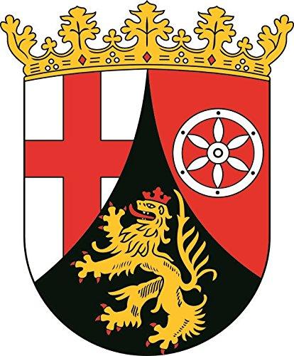 U24 Aufkleber Rheinland-Pfalz Wappen Autoaufkleber 20 x 24 cm Sticker Konturschnitt