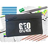 AllCachedUp Geocaching Essentials Kit with Log Sheets, Books, Bags, Pens, Pencils & Tweezers