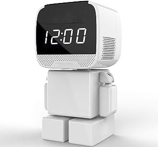 KEOA Reloj Oculto de cámara 960P Portátil Inalámbrica Cámara Espía Vigilancia con Pantalla de Tiempo Y Detector de Movimientopara iPhone Android PC