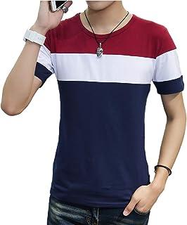 [サン ブローゼ] グラデーション tシャツ 半袖 ラウンドネック トップス カットソー 涼しい 綿 夏 M ~ XXL メンズ
