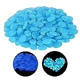 200 piezas Piedras Luminosas Azul Piedras Guijarros Brillantes Piedras Decorativas Guijarros Jardín utilizada para la decoración de acuarios Pasarela de jardín, decoración de habitaciones infantiles