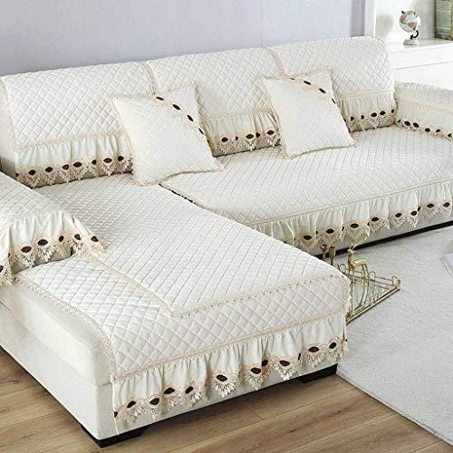 Jonist Funda de sofá Simple, cojín de Asiento Antideslizante de Franela, Protector de Muebles, Protector de muebles-B-70X240cm
