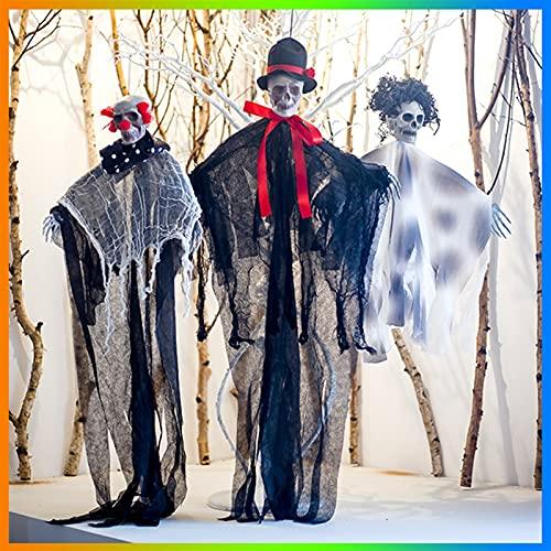 XIALIMY Decorazione di Halloween Halloween Appeso Reaper Ghost Scheletro Decorazione Pirata Decorazione di Halloween Pendente del Pendente della Stanza della Decorazione della casa Accessori Horror