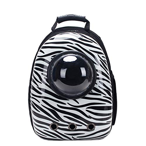 Rugzakken XL- Draagbare huisdier reizen ademend, ruimte capsule Bubble ontwerp, waterdichte handtas voor kat en kleine hond vervoerder, Zebra
