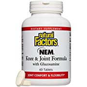 Natural Factors - NEM Knee and Joint Formula with Glucosamine - Promotes Joint Comfort & Mobility