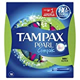 Tampax Compak Pearl Super Tampons avec Applicateur en Plastique x 18 - Lot de 3