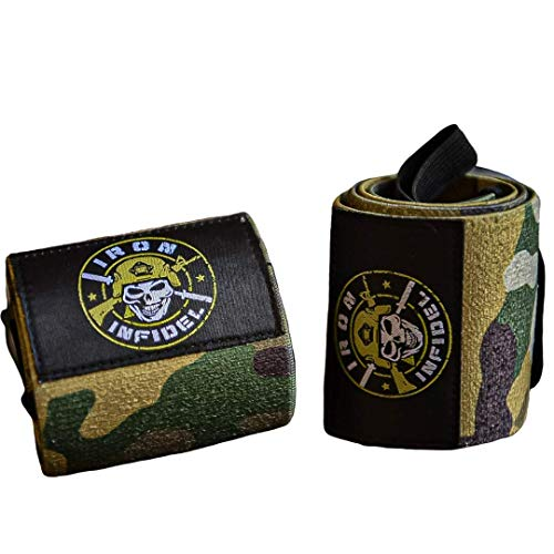 Iron Infidel Weightlifting Wrist Wraps - 24' Extra Stiff Heavy Duty, Wrist Support for Gym Workouts, Crossfit, Weights, Powerlifting, Fitness, Exercise, Olympic Lifts, Bench Press (Multicam)