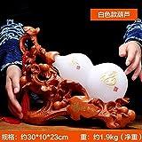 KLEDDP Ornamenti di Zucca di Giada Bianca Fulu Casa Soggiorno Feng Shui Arredamento Portico Armadio TV 30x10x18cm Statue (Color : B)