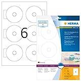 Herma 8619 Étiquettes de CD Mini diamètre 78 A4 60 pièces Blanc