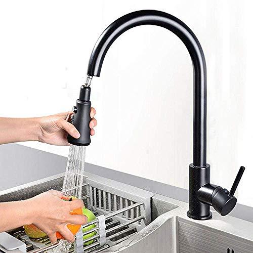 Onyzpily Schwarz küchenarmatur Ausziehbar Mischbatterie Küche 360° Schwenkbereich Wasserhahn Küche Armatur Mischbatterie Einhebel Spültischarmatur