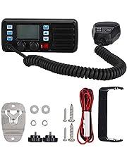 Xinwoer Radio móvil de Largo Alcance para Barcos Marinos Canal meteorológico VHF Receptor GPS Externo con detección Inteligente de Corriente de Salida