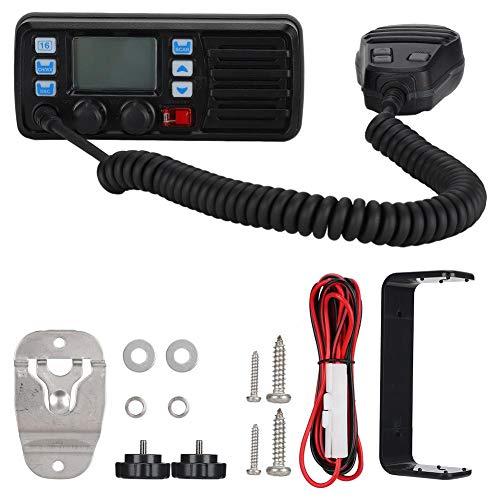 Lazmin112 Radio VHF Marina Mobile, Chiamata DSC Risposta Automatica Schermo Grande Ricevitore GPS Esterno per Canale Meteo