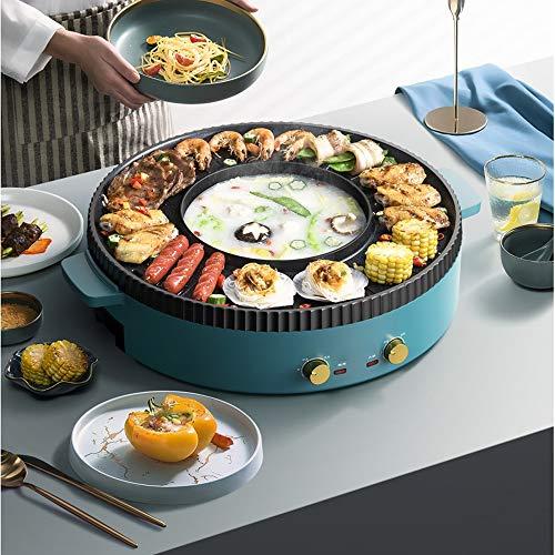 51wrDtpjGAL - KOIUJ Barbecue Bratpfanne Dual Purpose Barbecue Hot Pot EIN Pot Elektro Hot Pot Elektro-Backen-Wannen-Rinse-Wannen-Koch Pan Pan Grilled