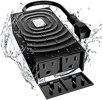Meross Waterproof Outdoor Smart Wifi Plug with 2 Grounded Outlets