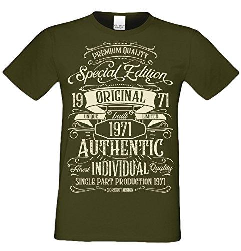 Retro Vintage T-Shirt Geschenk zum 49. Geburtstag Special Edition Original 1971 Farbe: Khaki Gr: XL