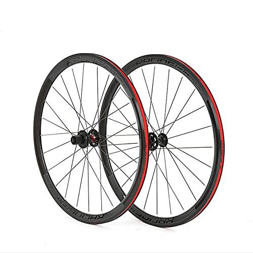 DSMGLSBB Ruedas De Ciclismo 8-12 Velocidad 4 Palin Rodamiento 700C Rueda De Bicicleta De Carretera, Freno De Aleación De Aluminio Freno De Doble Pared Rim 36Mm, 24/24 Agujeros