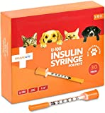 MEDICAL SUPPLIES – Each BrandzigU-100 Pet insulin syringe comes individually sealed in a blister package ensuring maximum safety and sterility. CLEAR AND EASY TO READ NUMBERS – You'll get an accurate dosage every time. The numbers on the large, clea...