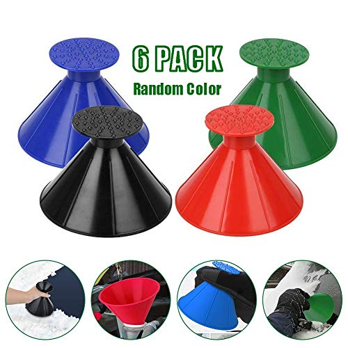 Fantastic Prices! Ice Scraper Round Car Window Windshield Cone-Shaped Snow Removal Tool, Magic 2 in ...