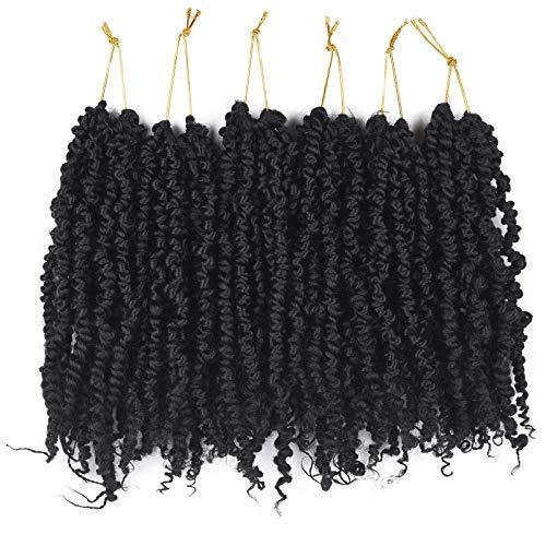 Pre-twisted Passion Twist Hair 10 inch Passion Twist Crochet hair Pre-looped 6packs Pretwisted Passion Twist Hair Crochet Braids Hair For Black Women Short Crochet Braids Hair extension