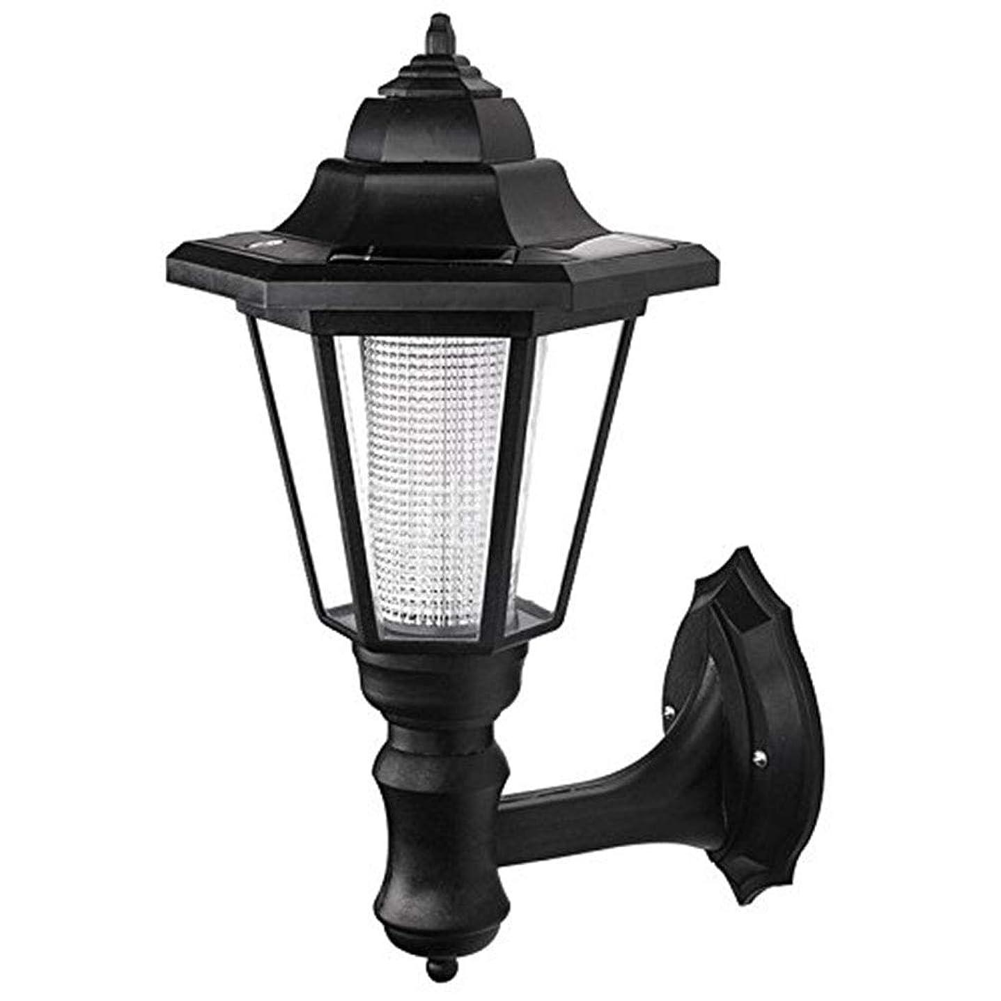 場合有利反乱Egursソーラーウォールランタン屋外用LED壁取り付け用燭台ランタンウォールライトセキュリティライト用ガーデンフェンスヤード