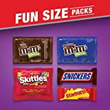 SNICKERS, M&M'S Milk Chocolate, M&M'S Caramel, SKITTLES & STARBURST Halloween Candy Variety Mix, 13.69-Ounce Bag, 90 Pieces