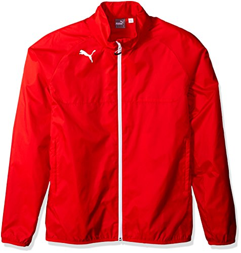Puma Men's Rain Jacket, Small, Puma Red-White