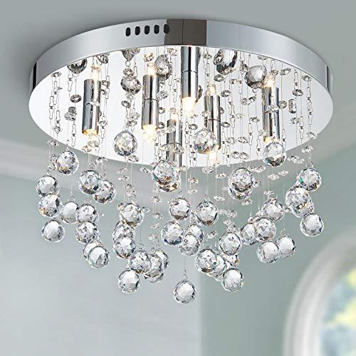 Bestier Moderno cristallo goccia di pioggia lampadario illuminazione a incasso LED plafoniera...
