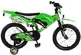 Volare Bicicleta motorizada para niño, Verde, satén.