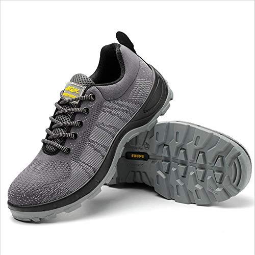 LBHH Zapatos de Trabajo Botas de Seguridad Zapatos de Seguridad Calzado de Trabajo de Suela sólida,PU Transpirable,Anti-Rotura,Anti-pinchazos,Resistente al ácido oleico y a los álcalis.