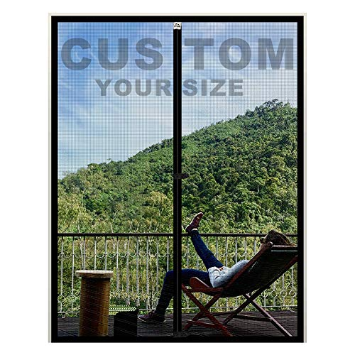 """Yotache Customized Magnetic Screen for Door Size 35"""" - 40"""" Width, Strengthened Magnet Fiberglass Insect Fly Mesh for Sliding Door"""