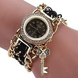 Relojes Para Mujer Mujeres Watch Fashion Women Ladies Braded Band Banda Rhinestone Analog Cuarzo...