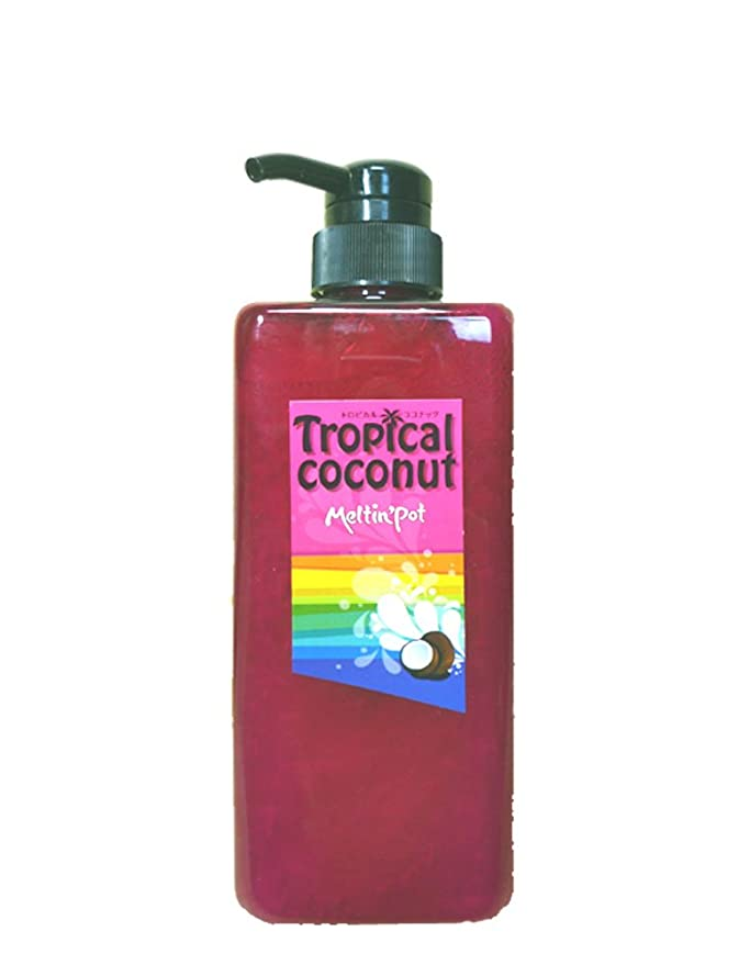 ペデスタル広範囲縁石トロピカルココナッツ シャンプー 600ml  Tropical coconut shampoo