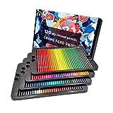 72/120 Set Matite Colorate Premium, Matite Colorate Professionali per Disegni Artistici Libri da Colorare Schizzi Ombreggiatura,120