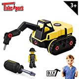 Stanley Jr Take Apart Jackhammer Kit for Kids TT010-SY: Children's 25 Piece Yellow STEM Construction Toy Truck with Figure, Screwdriver, Bolts, Ages 3+