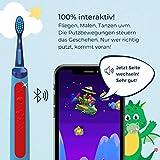Playbrush Smart Sonic, smarte elektrische Schallzahnbürste für Kinder mit interaktiver Spiele-App (Blau) - 5
